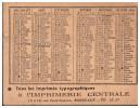 Petit Calendrier 1954 IMPRIMERIE CENTRALE (bordeaux) (PPP1321) - Calendriers