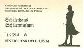 Weimar Schiller Schillerhaus Schillermuseum Eintrittskarte - Otros