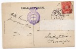 1909 - CP Avec CACHET De TRANSPORT MARITIME De VIGO (PACIFIC STEAM NAVIGATION COMPANY) // HOTEL CONTINENTAL Y AVENIDAS - 1889-1931 Kingdom: Alphonse XIII
