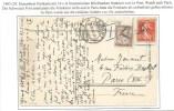 +b742 - CP Suisse LEPONT Affranchie 10 Ctes FRANCAIS Non Valable 1903 Pour PARIS - Taxe 10 Ctes - - Portomarken