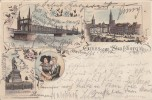 Litho Gruss Aus Strassburg I. E. Gelaufen 7.12.96 - Elsass