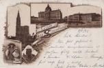 Litho Gruss Aus Strassburg I. E. S/w Gelaufen 9.5.92 Sehr Frühe Karte - Elsass