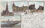 Litho Gruss Aus Düsseldorf Gelaufen 15.9.98 - Düsseldorf
