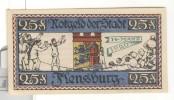 Notgeld 25 Pfennig Flensburg  - Allemagne / Germany 1920 - [11] Local Banknote Issues