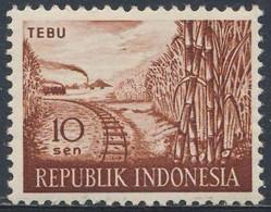 Indonesia Indonesie 1960 Mi 270 Sc 269 ** Saccharum Officinarum: Sugar Cane + Railway Line / Zuckerrohr + Eisenbahnlinie - Treinen