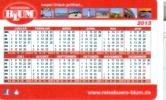 BRD Mannheim Taschenkalender 2013 Blum Reisebüro Leuchtturm Meer Kolosseum Rom - Calendars
