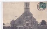 24561-  LE MERZER - L' Eglise -sans Edattelage, Coiffe Bretonne, Femme - France