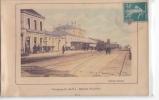 24566 Guingamp Intérieur De La Gare - Ed Hamon - Colorisée Train