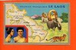 Le LAOS- Colonies Françaises Edition Spéciale Des Produits Chimiques Lion Noir (géographie- Carte - Chromo) - Laos