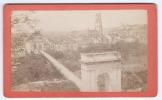 Photographie Ancienne, CDV, Rossier (Fribourg, Suisse), Pont De Zaehringen à Fribourg En Septembre 1873 (Cathédrale S... - Photographs