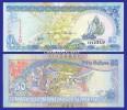 2000  MALDIVES  DHOW  MARKET  50 RUFIYAA  SERIAL No. ....349 KRAUSE 21 UNC. CONDITION - Maldives