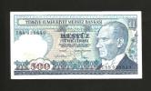 [CC] TURKEY - NATIONAL BANK - 500 LIRA (1970) - Turchia