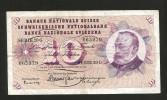 [CC] SVIZZERA / SUISSE / SWITZERLAND - NATIONAL BANK - 10 FRANCS / FRANKEN (1960) G. KELLER - Svizzera