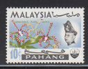 Malaysia - Pahang MH Scott #87 10c Arachnis Flos Aeris - Orchids - Malaysia (1964-...)