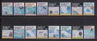 Marshall Islands MNH Scott #35-#49A Set Of 16 Maps And Navigational Instruments - Marshall