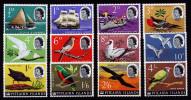 A3390) Pitcairn Islands Ships And Birds Mi.39-50 Unused MNH - Briefmarken