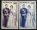 """Monaco Aerien YT 71 & 72 (PA) """" Couple Princier """" 1959 Neuf** - Poste Aérienne"""