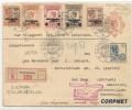 NED INDIE - Vf  1928 REGISTERED EXPERIMENTAL FLIGHT NED. INDIE - NEDERLAND - Yvert #  A1/A5 (complete Set) + 138 - Netherlands Indies