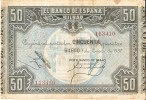 BILLETE DE ESPAÑA 50 PTAS DEL BANCO DE BILBAO 1937 - FIRMA BANCO DE BILBAO   (BANKNOTE) - [ 3] 1936-1975 : Régimen De Franco