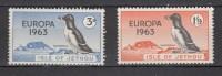 Isle Of Jethou 1963,2V.Europa 1963,birds,vogels,vögel,oiseaux,pajaros,uccelli,aves,MNH/Postfris(A1833) - Vogels
