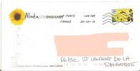 Timbre Araignée Du Soir Espoir Sur Enveloppe Illustrée Tournesol - Fleur + Toshiba 42618A - Arañas