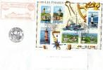 Phares-Bloc N° 114-France, Sur Env.1er Jour Obl. Audièrne-29 +Force D'Action Navale Guerre Des Mines,BSM Loire - Marcophilie (Lettres)
