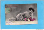 Melle Irma De Lafère -beauté  Avec Ses Dorures  -édition Alterocca Terni-a Voyagé En 1904 - Artisti