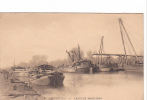 24606 Bruxelles Brussel Belgique -travaux Maritimes -peniche Schip Bateau Cghargement - Sans Ed