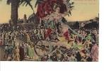 24611  Nice - Carnaval 1911- Char De Madame Carnaval -dessin T Montage , Colorisée