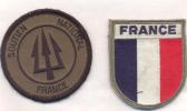 2 Ecussons SOUTIEN NATIONAL Et FRANCE - Patches