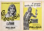 1968/69 -  FALQUI  -  4 Pagine Pubblicità Cm. 13 X 18 - Riviste
