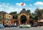 KOPENHAGEN Eingang Zum Tivoli Alte Autos 035 Öre Freimachung 3 Weitere Stempel - Dänemark