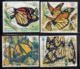 Mexico MNH Scott #1559-#1562 Set Of 4 Monarch Butterflies - World Wildlife Fund - Mexique