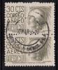 Mexico Used Scott #C210 Vertical Pair 30c Cuauhtemoc - Watermark Inverted, Some Perf Separation - Mexique