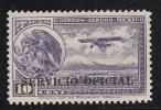 Mexico MH Scott #CO20 ´SERVICIO OFICIAL´ Overprint On 10c Coat Of Arms, Airplane - Mexique