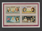 1977 AITUTAKI Stamps MINIATURE SHEET   HMS BOUNTY , MAP Sailing Ship  MNH Silver Jubilee  Royalty Navy - Aitutaki
