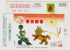 Chinese Folk Art Lion Dancing,Chinese Patent Medicine Capsule,CN 98 Nancheng Pharmaceutical Company Pre-stamped Card - Dance