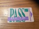 "Ticket de bus CGFTE PASS ""PASS 10 tarif r�duit"" type 1 - Nancy (54)"