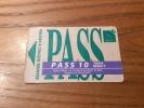 "Ticket de bus CGFTE PASS ""PASS 10 tarif r�duit"" type 2 - Nancy (54)"