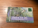 """Ticket De Bus CGFTE PASS """"PASS 10 Tarif Réduit"""" Type 4 - Nancy (54) (vase Aux Libellules 1904 Daum) - Europe"""