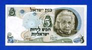 Israel 5 Lirot 1968 P34b Albert Einstein Red Serial # AU - Israele
