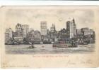 New Yok City Skyline & Waterfront, C1900s Vintage Hold To Light Postcard - Hold To Light