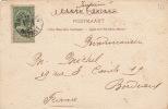 Carte Bruxelles Imprimé Timbre Pub Pour La France - 1893-1907 Coat Of Arms