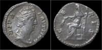 Diva Faustina Sr AR Denarius Ceres Seated Left - 3. Les Antonins (96 à 192)