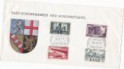 1957 SAAR Multi Stamps  COVER EVENT SAAR FAIRE Illus Heraldic Lion - 1957-59 Federation
