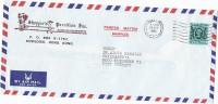 1982 Air Mail HONG KONG Illus ADVERT COVER RICKSHAW    90c  Stamps Germany , Herldic Lion Dragon China - Covers & Documents