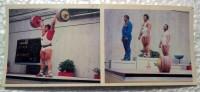 Retro Russian Olympic Postcard S. Rakhmanov Super Heavyweight 1980 Olimpics Weight Lifting Champion - Haltérophilie