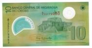 Nicaragua, 10 Cordobas, Polymer, UNC , FREE SHIP. TO USA. - Nicaragua