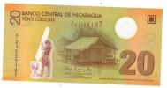 Nicaragua, 20 Cordobas, Polymer, UNC , FREE SHIP. TO USA. - Nicaragua