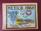 HOTEL MOTEL HOUSE INN LOMA OLYMPIC GUADALAJARA MEXICO MEJICO TAG STICKER DECAL LUGGAGE LABEL ETIQUETTE KOFFERAUFKLEBER - Hotel Labels